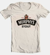 Murphys Irish Stout T shirt logo Ireland beer 100% cotton tan tee Fee Shipping image 2