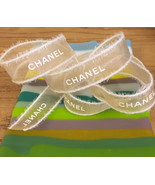 """Free Shipping**Authentic Chanel """"Christmas gold II"""" 3/4"""" Organza ribbon Light go - $11.75"""