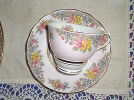 PINK Floral COLCLOUGH CHINA TEA CUP SAUCER BONE CHINA ENGLAND 6564 - €12,72 EUR
