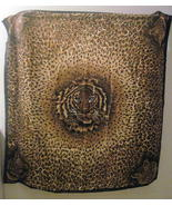Large Tiger and Animal Print Scarf Brown 35 X 35 - $24.99