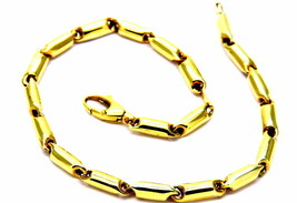 Bracelet Yellow Gold 18kt 750/1000 Mens Unisex Man Woman Boy - $554.33