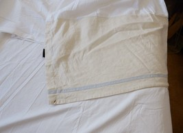 RALPH LAUREN LRL King Bed Skirt Linen Blend Cream Blue Stripe   - $89.95