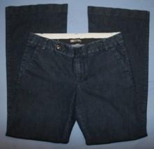 Femmes Gap Droit Jambe Évasée Jeans Taille Basse Extensible 6 R Pantalon - $26.42