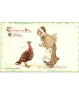 Thanksgiving Day, Frances Brundage, Vintage 1915 Post Card   - $10.00
