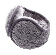 Unisex Foldable Earmuffs Warm Knit Ear Warmers Fleece Winter EarMuffs, B1 - $12.72