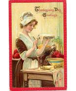 Thanksgiving Day Frances Brundage Vintage 1911 Post Card   - $8.00