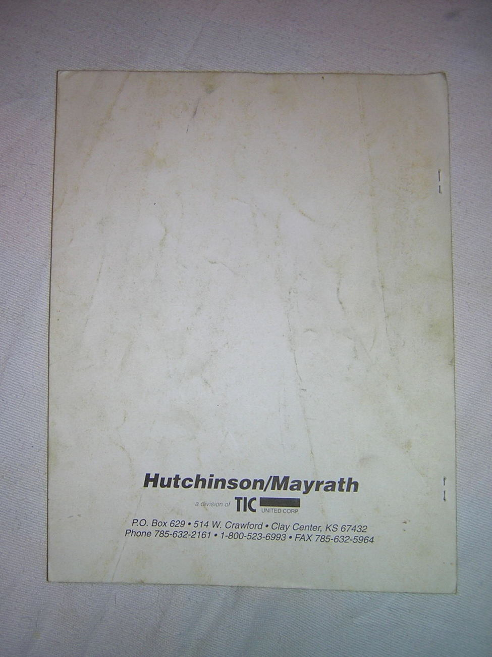 """Hutchinson/Mayrath 10"""" Inline/Mid-Drive Portable Auger Owner's & Operator's"""