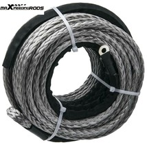 """3/8"""" x 95' 20500LBs Synthetic Winch Line Cable Rope for Off Road Vehicle... - $78.21"""