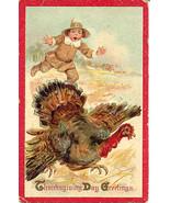 Thanksgiving Day Frances Brundage Vintage Post Card   - $8.00