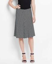 Ann Taylor Black Mitered Stripe Full Skirt, size PL, NWT - $19.99