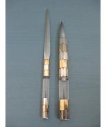 Gucci Sterling Silver Lucite 18K Gold Ballpoint Pen & Letter Opener Set ppp - $850.00