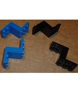 LEGO Parts lot of 4 Bracket 5 x  2 x  2 & 1/3,  black & blue - $19.29