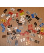 LEGO Parts lot of 65 Tile 1x2 GRILL mixed colors - $34.94