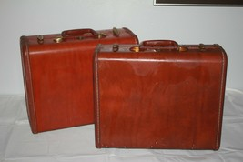 Lot of 2 Vintage 1950's Samsonite Suitcases - Luggage Shwayder Bros Denv... - $47.50