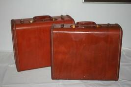 Lot of 2 Vintage 1950's Samsonite Suitcases - Luggage Shwayder Bros Denver 4916 - $47.50