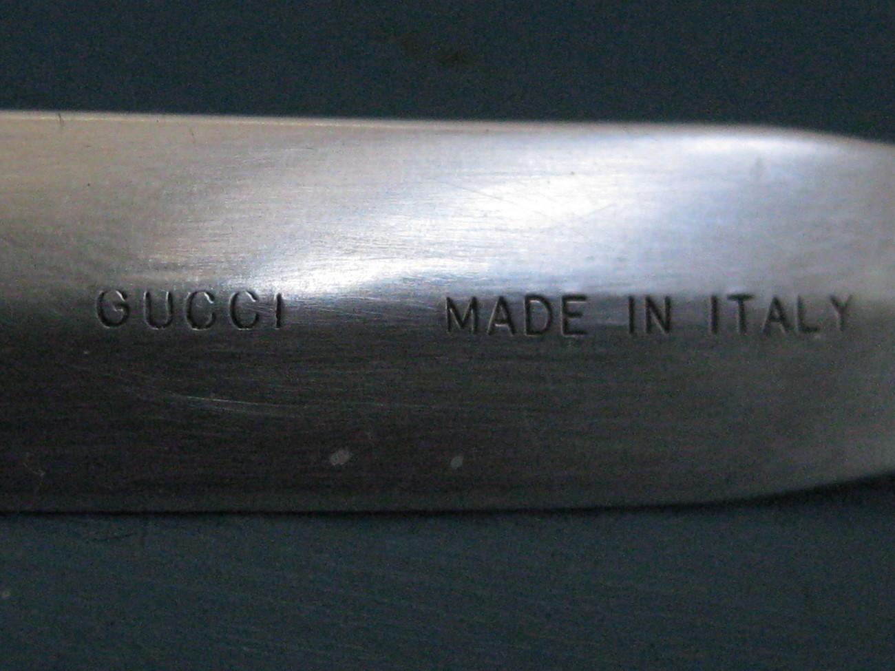 Gucci Sterling Silver Lucite 18K Gold Ballpoint Pen & Letter Opener Set ppp