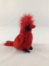 1999 Ty Beanie Baby Mac The Cardinal Bird Red Stuffed Plush Animal Toy - $5.89