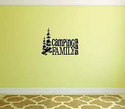 Camping Family Fun Wall Sticker - Outdoor Home Decor Decal Camp Family Outdoors