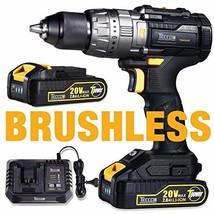 Brushless Drill Driver 20V MAX, TECCPO Professional 60Nm Cordless Hammer... - $168.31