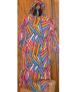 Vintage 70s MOD Colorful abstract hoodie dress or cover-up - $48.99