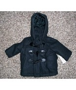 Infants Pea Coat w/Hood, Black, Newborn-3 Mo., ... - $19.50