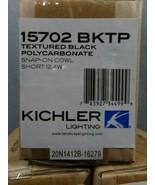 Kichler 15702 Snap-On Cowl, Short 12.4W, Black (BKTP) - $6.28