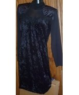 Vtg 80s GLAM Punk Black velvet BANDAGE cut out Dress size 7/8 - $59.99