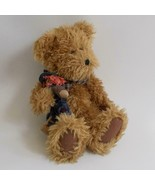 "Boyds Bears Jointed Teddy Bear With Scarecrow 14"" Tall 1998 - $19.79"