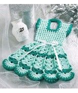W057 Crochet PATTERN ONLY Doll Dress Pot Holder... - $8.45