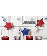 W054 Crochet PATTERN ONLY Patriotic Star Swag Pattern 4th of July Christmas - $7.50