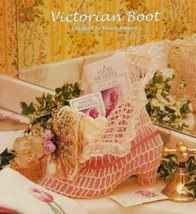 X005 Crochet PATTERN ONLY Victorian Boot Home Decor Ornament Pattern - $7.50