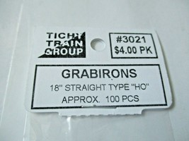 """Tichy #293-3021 Grabirons 18"""" Straight Type Approx 100 Pieces HO Scale image 2"""