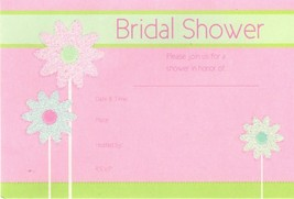 Sparking Daisy Flowers Bridal Shower Invitations 8 ct includes envelopes - $2.96