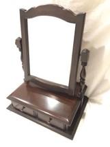 Tabletop Shaving Vanity Display Vintage Hard Side Vintage Swivel Mirror ... - $74.24