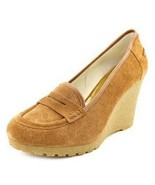 Women's Shoes Michael Kors RORY LOAFER  Platform Wedge Heel Suede Walnut - $80.99