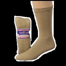Khaki- Men's Diabetic Socks 3 pairs Size 10-13 - $8.75