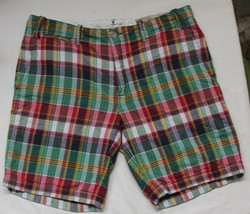 Polo Ralph Lauren Authentic India Madras Straight Fit Shorts 34 Plaid Patchwork - $28.93