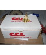 "NEW! CCL (1) DESK DRAWER LOCK, KEYED DIFFERENT, 7/8"" CYLINDER, BRASS, 02066 - $7.99"