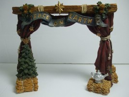 1994 Boyds Bears Nativity Series #4 Peace on Earth Banner The Stage #2425 - $14.80