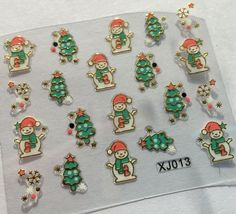 BANG STORE Nail Art 3D Decal Stickers Holidays Christmas Tree Snowman Snowflakes - $3.68