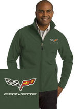 Corvette Green Embroidered Port Authority Core Soft Shell Unisex Jacket NEW - $39.99