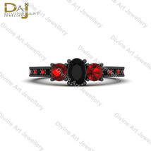 Harley Quinn Inspired 3 Stone Engagement Ring For Womens Harley Quinn Je... - €80,49 EUR+