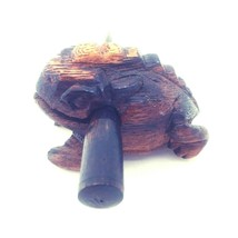 Hand Crafted Wooden Frog Musical Instrument Croaking Percussion Clacker ... - $15.44