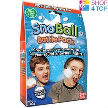 Snoball Battle Pack Artificial Snow Balls White Christmas Kids Children New - $10.98