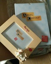 Angel Cheeks picture frame ALWAYS Hand-Painted Russ  holds 4X6 photo NIB - $11.79