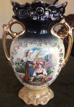 ANTIQUE FINE EUROPEAN PORCELAIN NUMBERED with HAND PAINTED DESIGN, GOLD ... - $88.48
