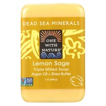 One With Nature Dead Sea Mineral Lemon Verbena Soap - 7 oz - $6.70