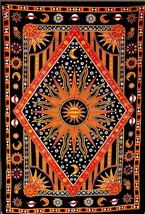 Twin size Hippie Mandala Bohemian Psychedelic tapestry wall hanging Beds... - $400,05 MXN