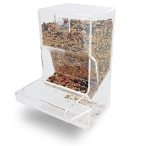 NEW! TIDY BIRD FEEDER - PARROT/CANARY/COCKATIEL ACRYLIC CAGE SEED HOPPER... - $27.67