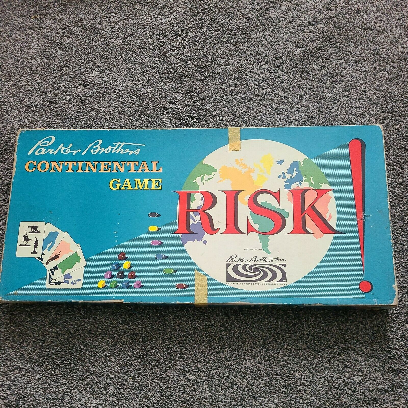 Primary image for Parker Brothers Risk Continental Board Game Wooden Pieces